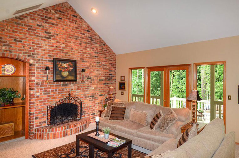If you're lucky enough to have a real brick fireplace in your home