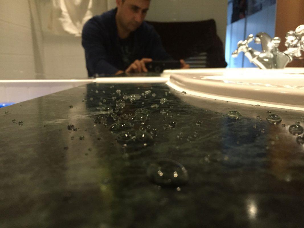 Marble countertop bathroom