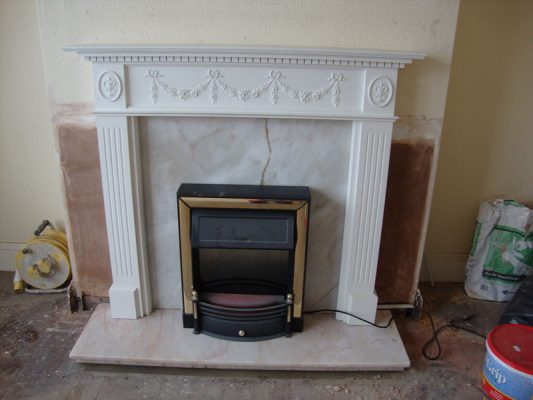 marble fireplace makeover