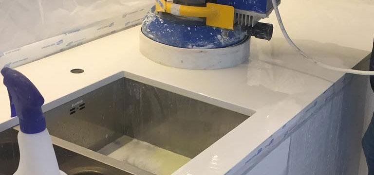 Limestone Countertop and Worktop Restoration and Repair London